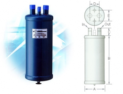 Refrigerant Heat Exchanger Suction Accumulators